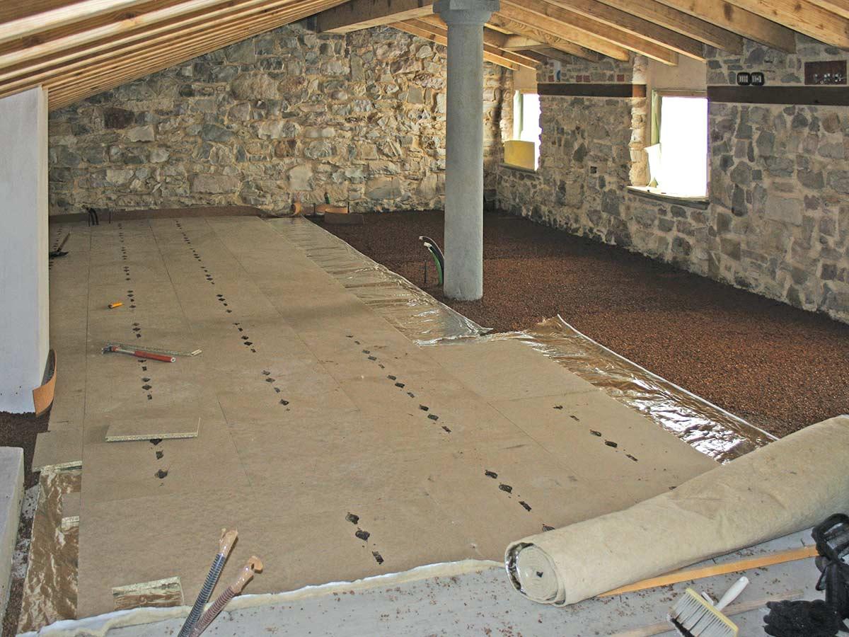 Il pavimento a secco con pannelli radianti