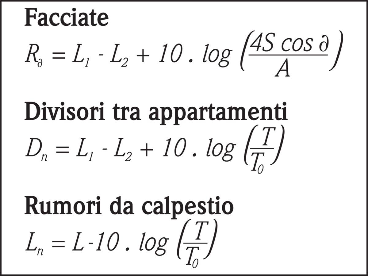 Tabella C - Collaudi delle prestazioni fonoisolanti